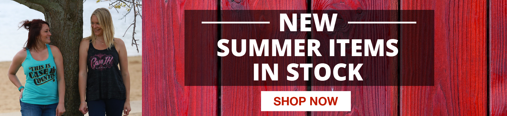New summer items in stock now