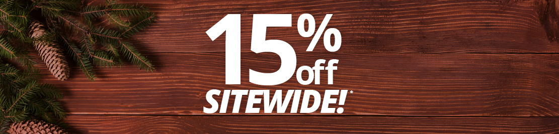 15% off sitewide!