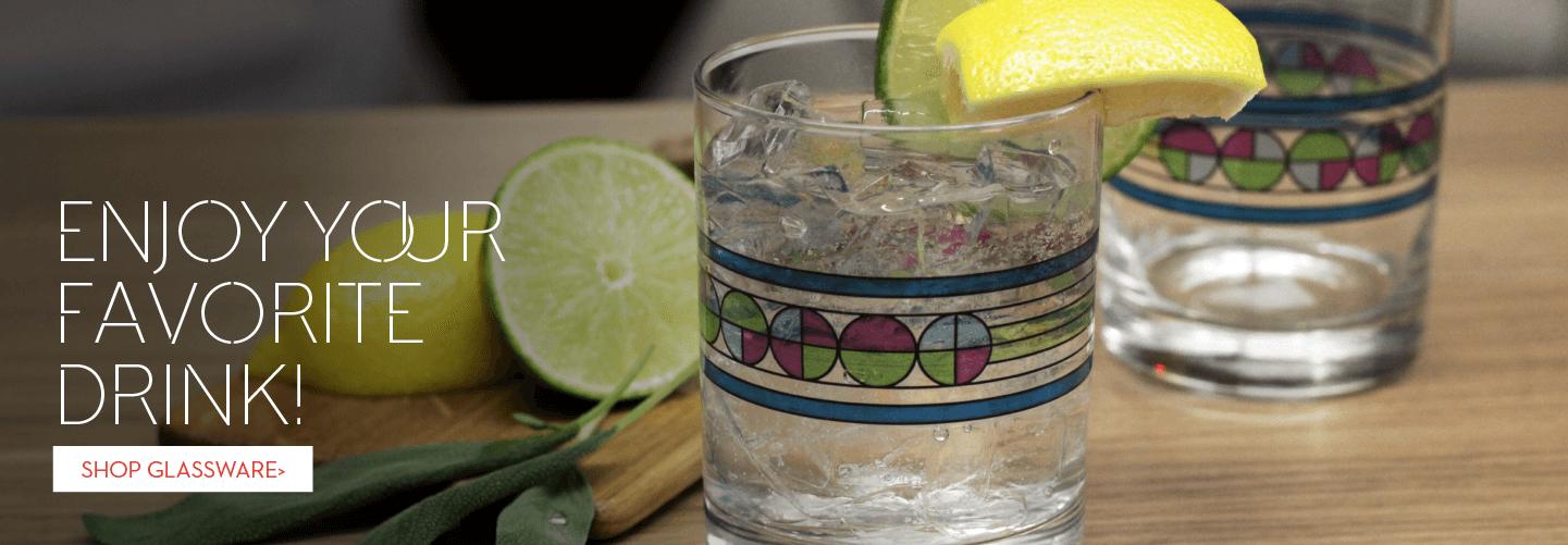 FLW glassware