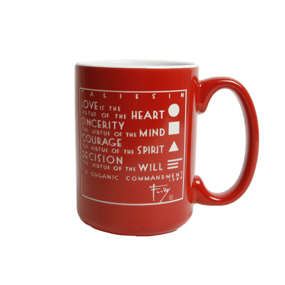 Four Organic Truths Red Mug
