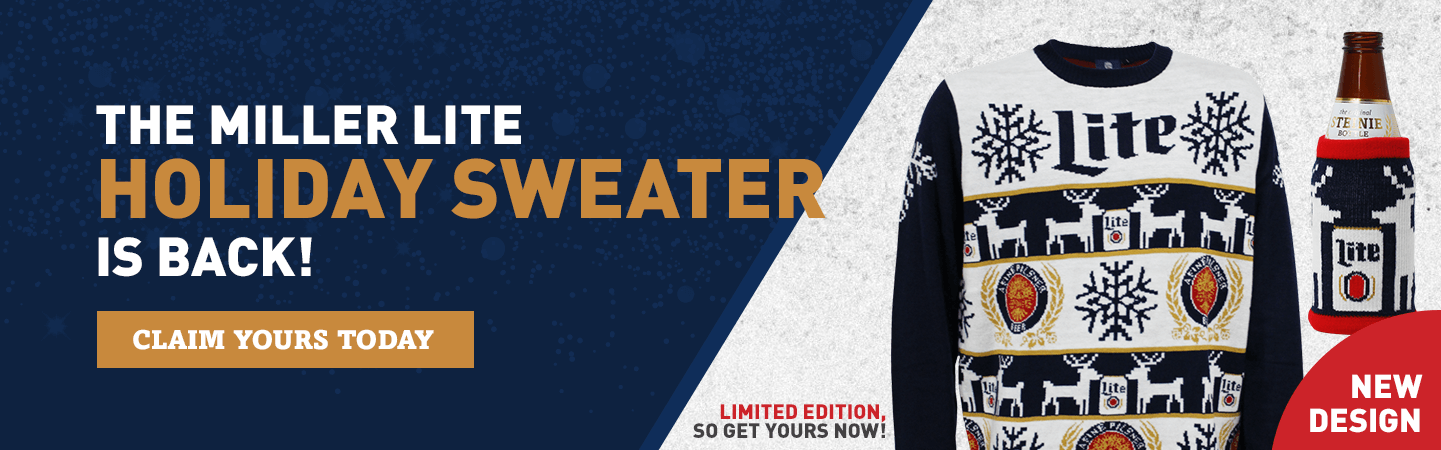 The Miller Lite Holiday Sweater is Back!