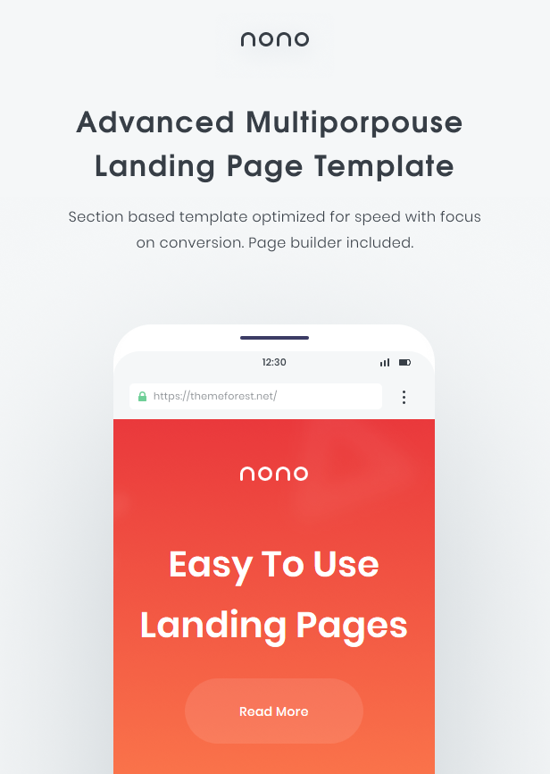 Nono | The Multi-Purpose Landing Page Template - 1