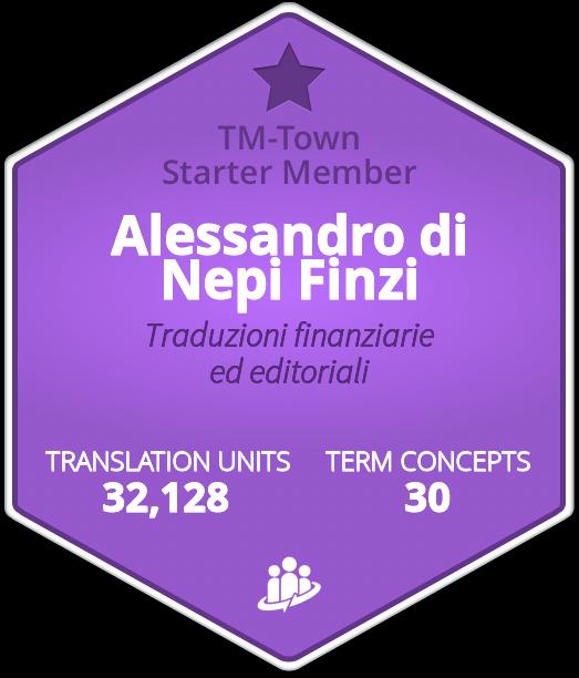Alessandro di Nepi Finzi TM-Town Profile