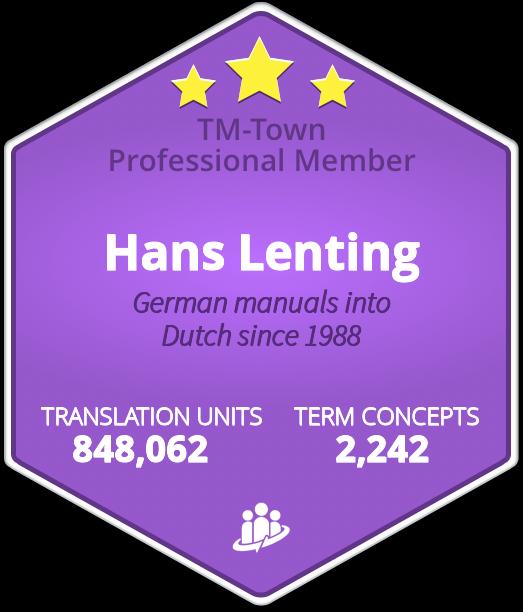 Hans Lenting TM-Town Profile