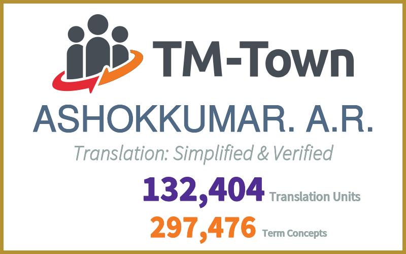ASHOKKUMAR. A.R. TM-Town Profile