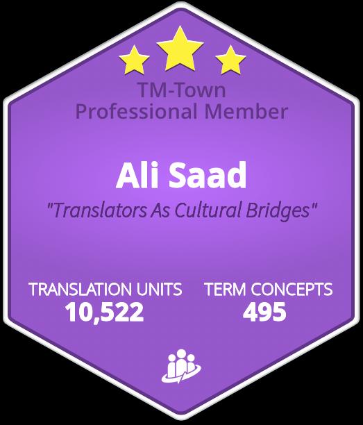Ali Saad TM-Town Profile