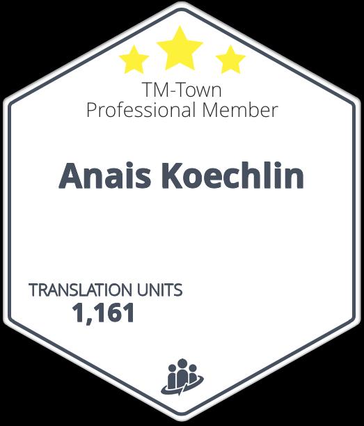 Anais Koechlin TM-Town Profile