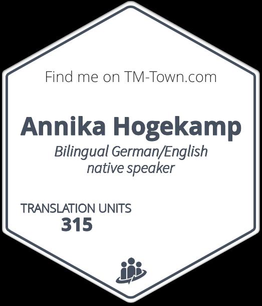 Annika Hogekamp TM-Town Profile