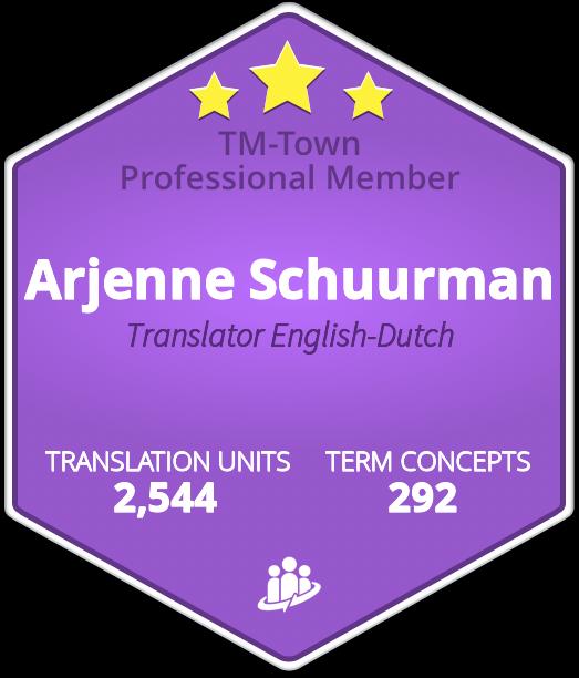 Arjenne Schuurman TM-Town Profile