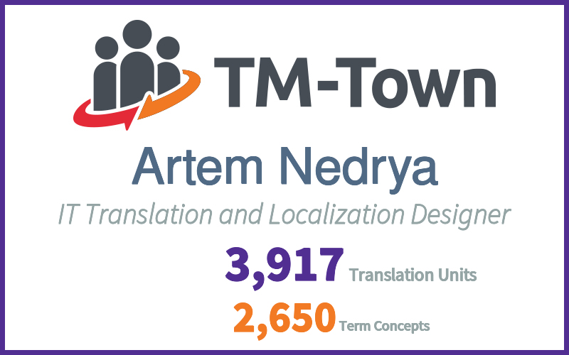 Artem Nedrya TM-Town Profile