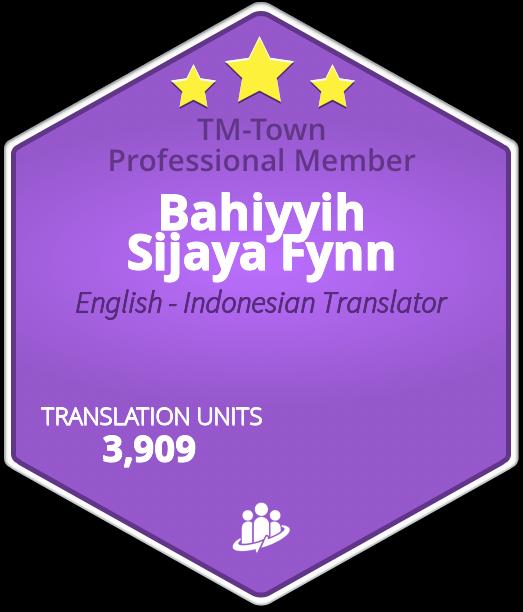 Bahiyyih Sijaya Fynn TM-Town Profile