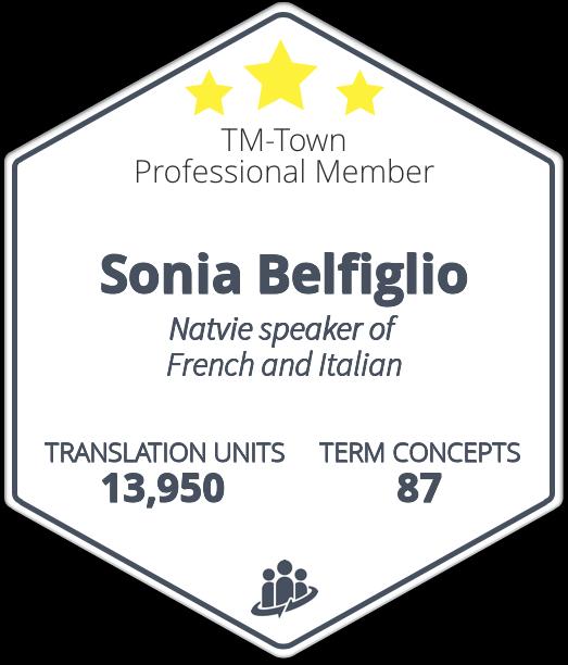 Sonia Belfiglio TM-Town Profile