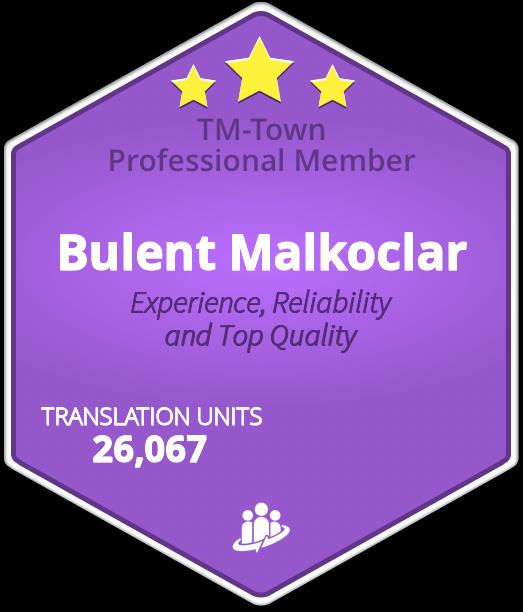 Bulent Malkoclar TM-Town Profile