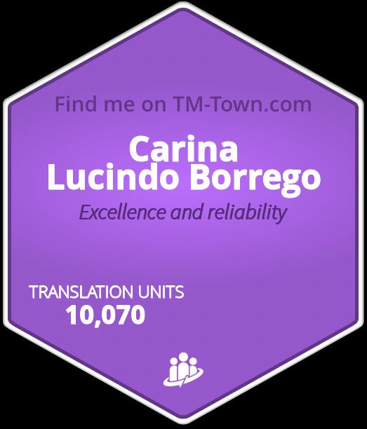 Carina Lucindo Borrego TM-Town Profile