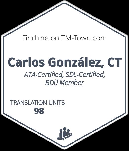 Carlos González Rivera, CT TM-Town Profile