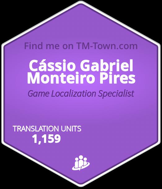 Cássio Gabriel Monteiro Pires TM-Town Profile