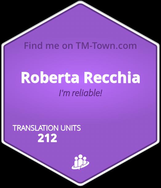Roberta Recchia TM-Town Profile