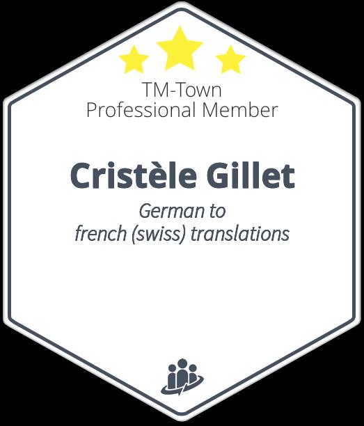 Cristèle Gillet TM-Town Profile