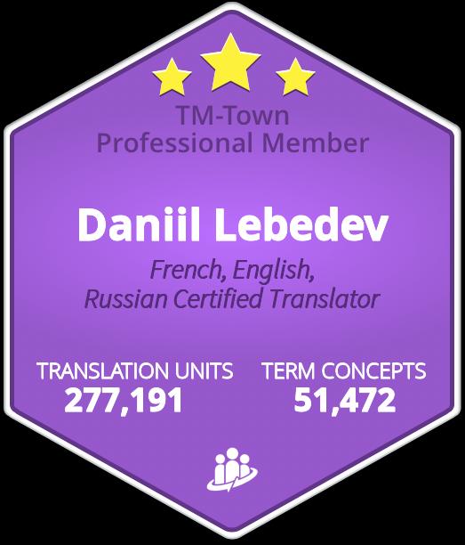 Daniil Lebedev TM-Town Profile