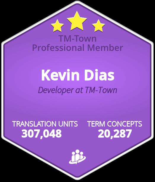 Kevin Dias TM-Town Profile