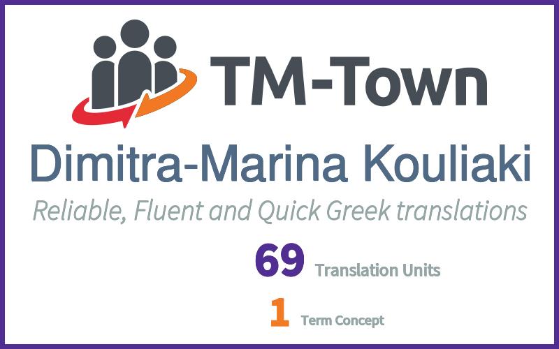 Dimitra-Marina Kouliaki TM-Town Profile