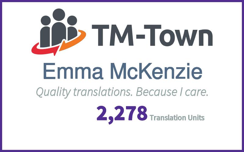 Emma McKenzie TM-Town Profile