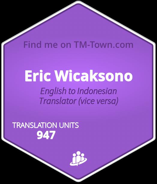 Eric Wicaksono TM-Town Profile