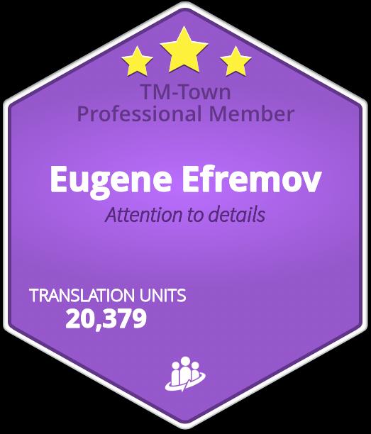 Eugene Efremov TM-Town Profile
