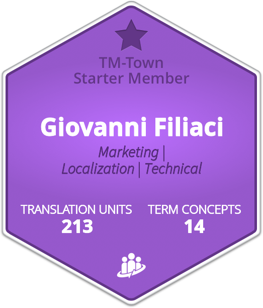 Giovanni Filiaci TM-Town Profile
