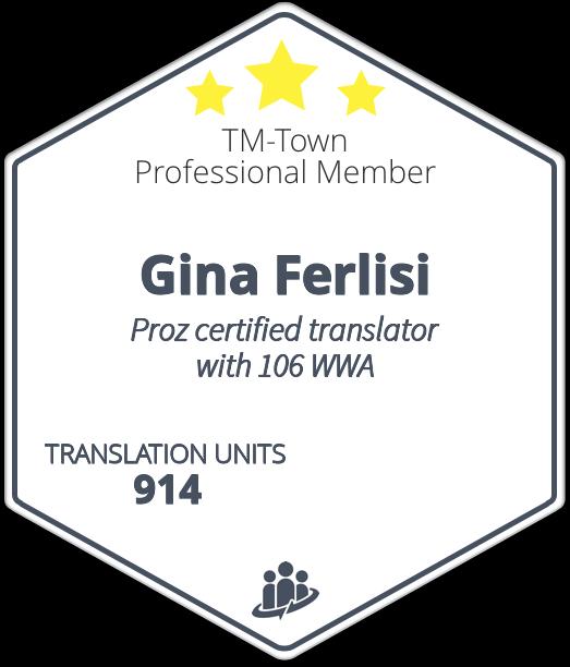 Gina Ferlisi -Italian/English translator- specialised in ...