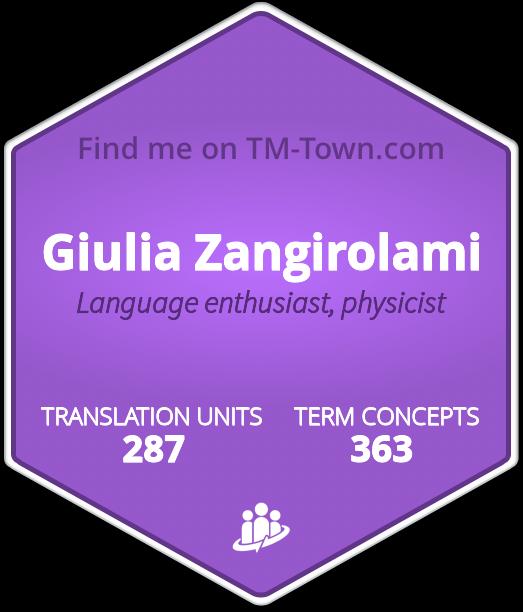 Giulia Zangirolami TM-Town Profile