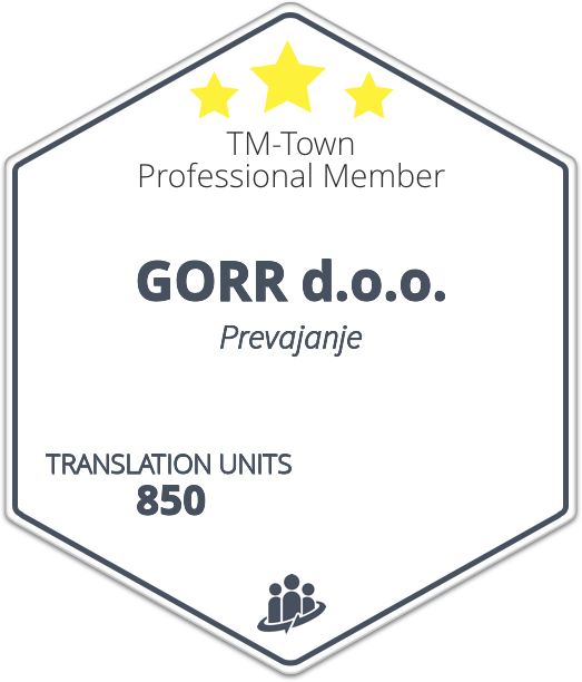 GORR d.o.o. TM-Town Profile
