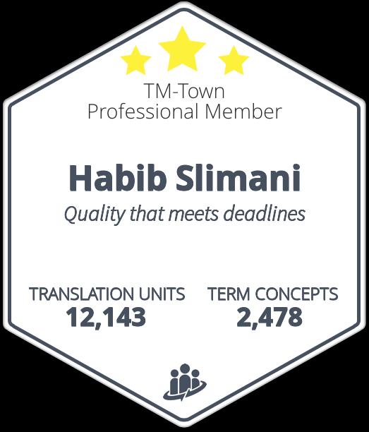 Habib Slimani TM-Town Profile