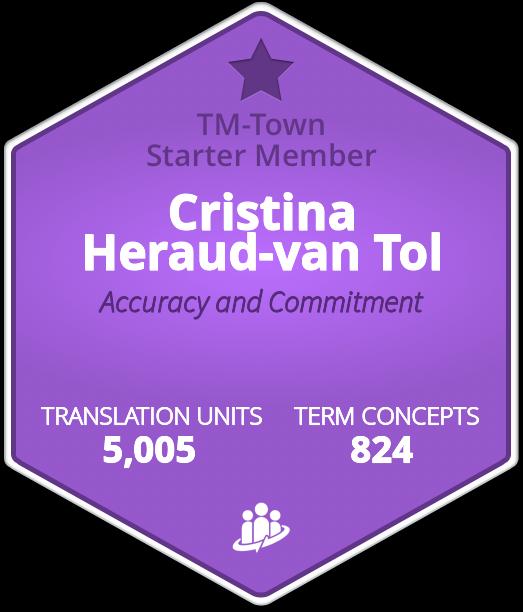 Cristina Heraud-van Tol TM-Town Profile