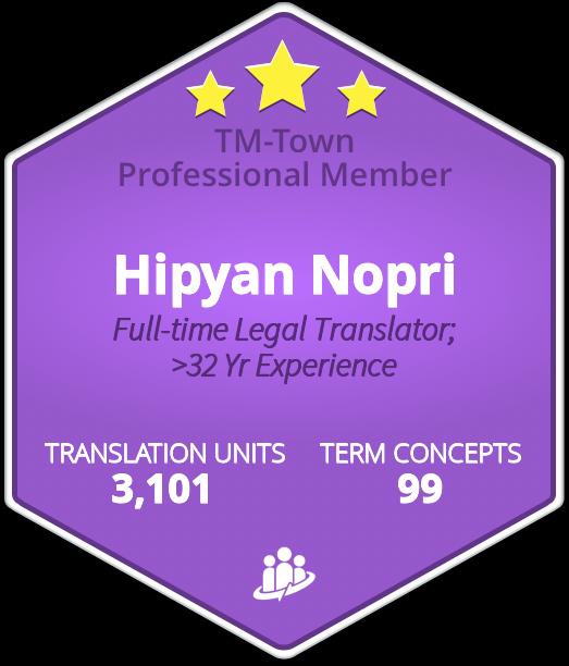 Hipyan Nopri TM-Town Profile