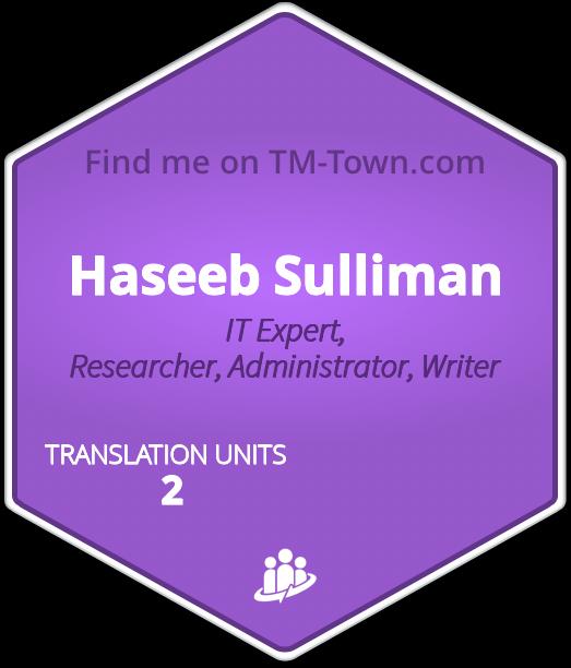Haseeb Sulliman TM-Town Profile