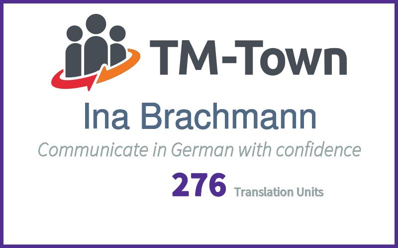 Ina Brachmann TM-Town Profile