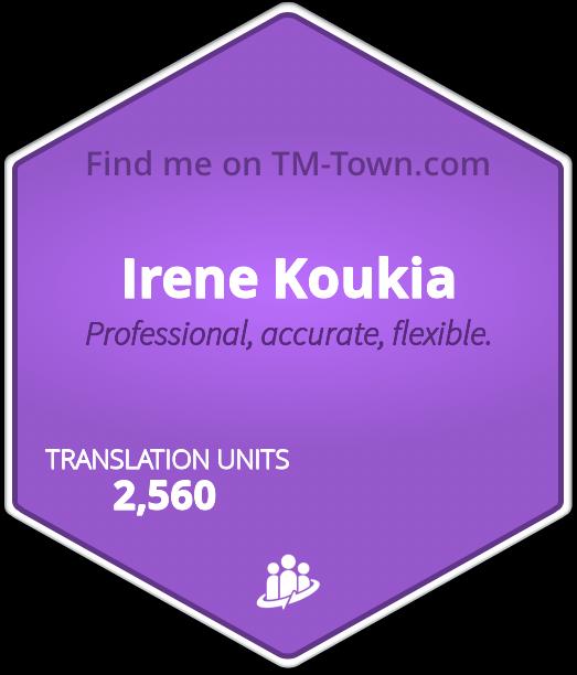 Irene Koukia TM-Town Profile