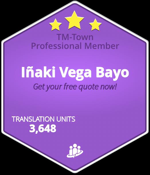 Iñaki Vega Bayo TM-Town Profile