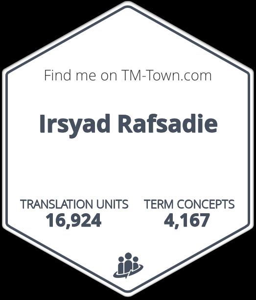 Irsyad Rafsadie TM-Town Profile