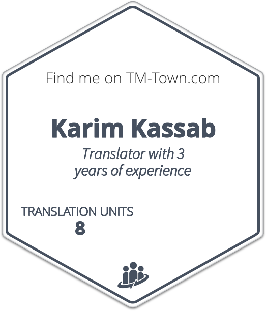 Karim Kassab TM-Town Profile
