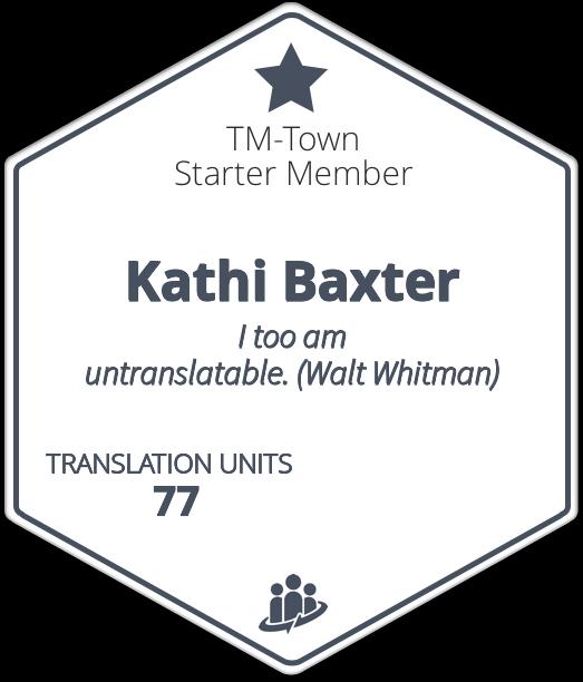 Kathi Baxter TM-Town Profile