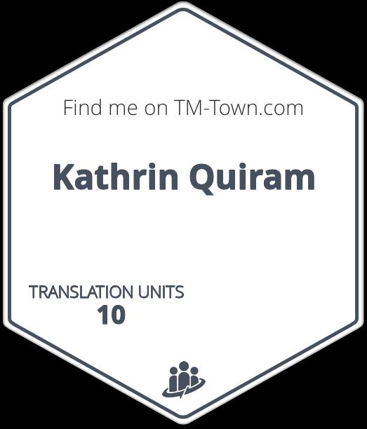 Kathrin Quiram TM-Town Profile