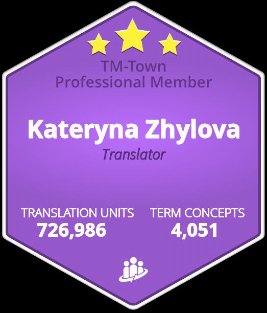 Kateryna Zhylova TM-Town Profile