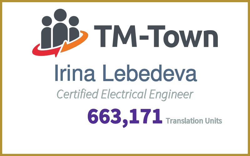 Irina Lebedeva TM-Town Profile