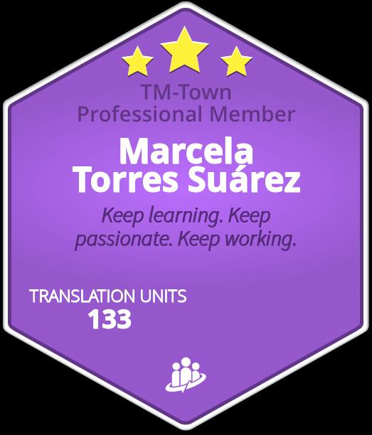 Marcela Torres Suárez TM-Town Profile