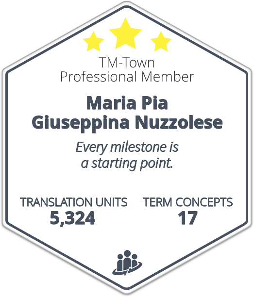 Translations Into Italian: Maria Pia Nuzzolese: English/French Into Italian Translator