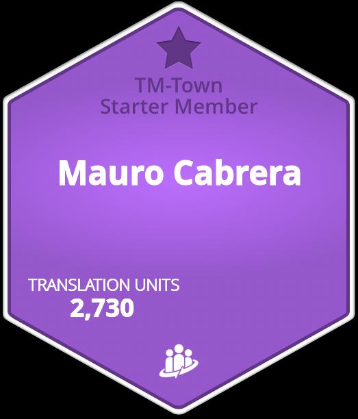 Mauro Cabrera TM-Town Profile