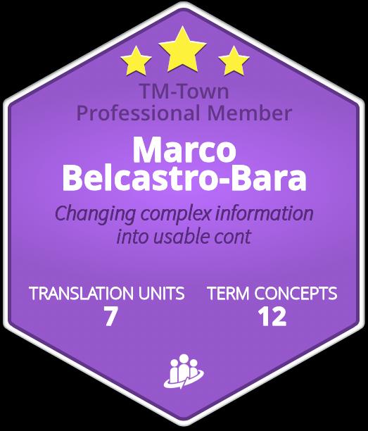 Marco Belcastro Bara TM-Town Profile