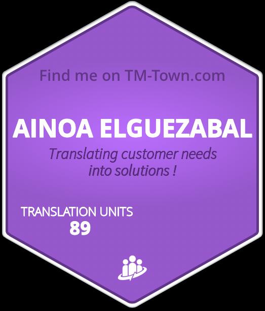 AINOA ELGUEZABAL TM-Town Profile